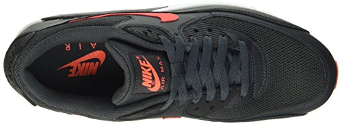 Nike Air Max 90 Essential, Baskets mode homme Negro (Anthracite / Ttl Crmsn-Blck-Wht)