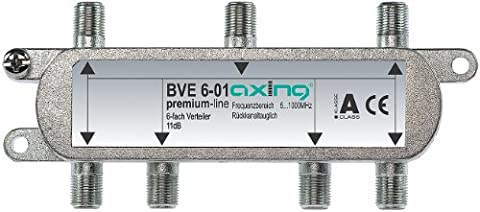 Axing BVE 6-01 6-way Splitter for CATV DVB-T (5-1006 MHz)