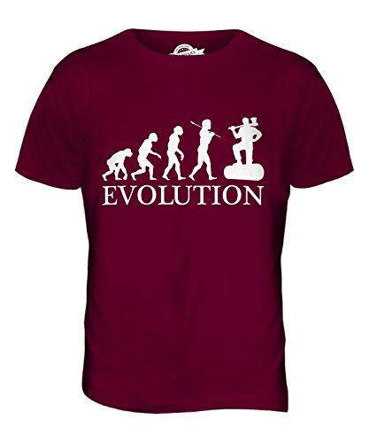 CandyMix Holzfäller Evolution Des Menschen Herren T Shirt Burgunderrot