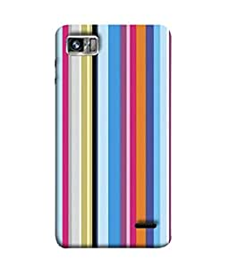Fuson Designer Back Case Cover for Lenovo K860 :: Lenovo IdeaPhone K860 (Colorful Stripes Man Office Women Girls)
