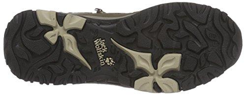 Jack Wolfskin Mountain Storm Texapore Mid, Chaussures de trekking et randonnée femme Braun (sahara 5122)