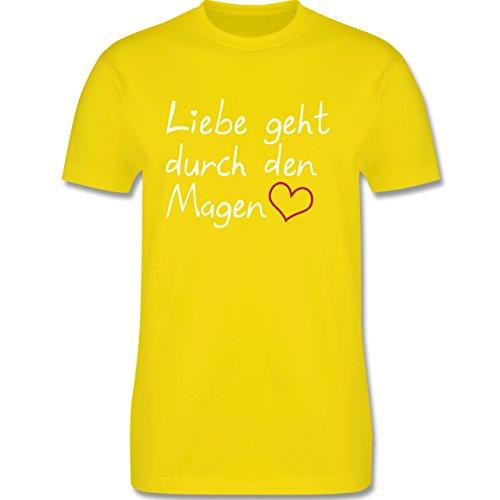 Küche - Liebe geht durch den Magen - Herren Premium T-Shirt Lemon Gelb