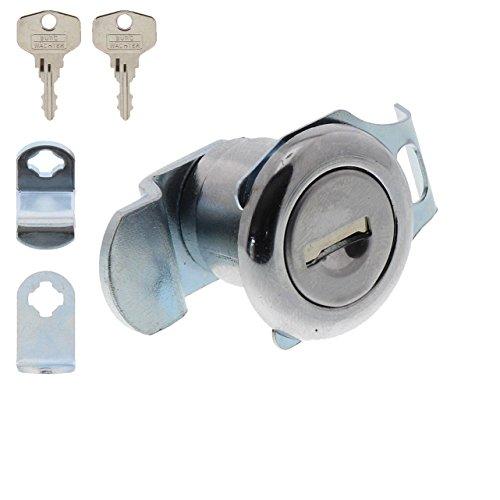 Burg-Wächter Ersatzzylinder für Briefkästen, Hebelschloss, für Materialstärke von 1 bis 2 mm, verchromt, ZBK 71 SB, 1 Stück - 3
