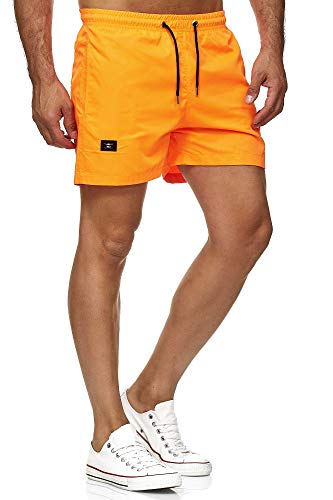 Red Bridge Herren Shorts Kurze Hose Badeshorts Schwimmhose Freizeit- Sport-Shorts Orange L