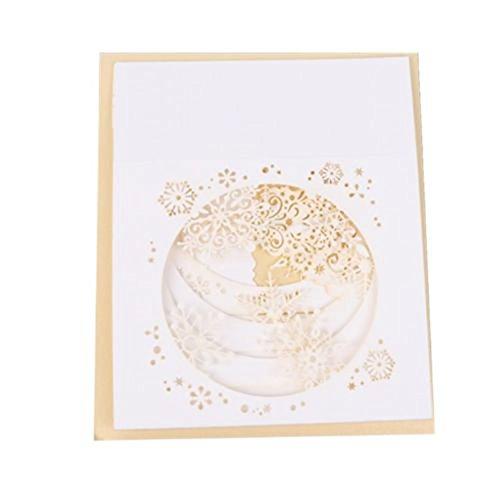 p Up Baum Box Schneeflocke handgefertigt Urlaub Weihnachten Grußkarte Geschenk multi ()
