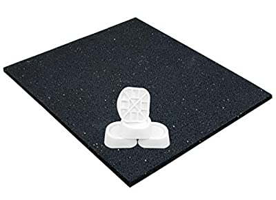 Anti-vibration Mat for Washing Machine, Universal 60x60x0.6 cm and Anti Vibration Damper Set of 4, Anti-Slip Pad Dryer, Oscillation Damper Feet, Vibration Absorber by intervisio by intervisio
