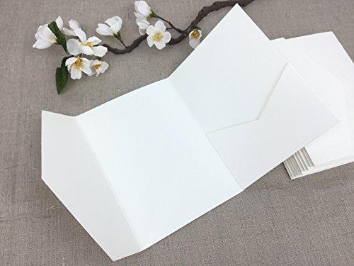 20 STÜCK Pocketfoldkarte für Einladung zur Hochzeit, Kommunion, Taufe