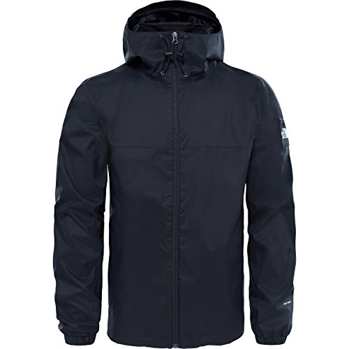 Fit-high Rise (North Face M Mountain Q Jacket – Jacke, Herren, Schwarz (TNF Black/High Rise Grey))
