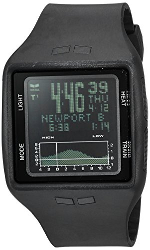 Vestal Quartz Plastic and Polyurethane Sport Watch, Color:Black (Model: BRG001.N)