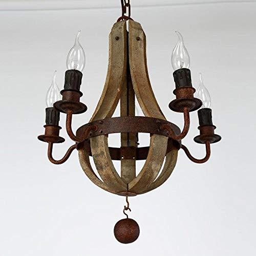 5-Licht Kerzen-Stil Kronleuchter Deckenfluter Lackierte Oberflächen Holz/Bambus Ministil 110-120V / 220-240V Glühbirne nicht inklusive / E14@110-120V -