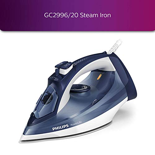 Philips Steam Iron GC2996/20- Powerful 2400W with Steam Glide Soleplate