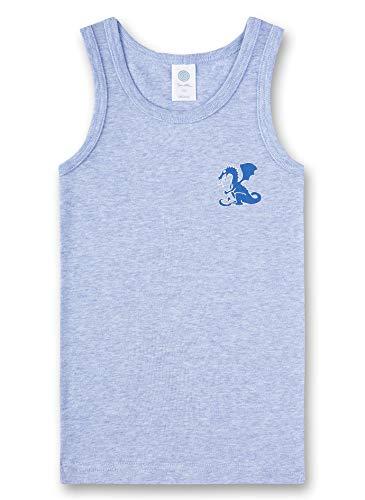 Sanetta Baby-Jungen Unterhemd T-Shirt, Blau (Oxford Mel 50252), 80 (Herstellergröße: 080) -