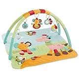 Fehn 074277 3-D-Activity-Decke Safari / Spielbogen mit 5 abnehmbaren Spielzeugen für Babys Spiel & Spaß von Geburt an / Maße: 80x85cm