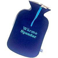 """Filzschnitt, kuschelige Wärmflasche """"Wärme Spender"""" mit handgefertigtem Bezug aus 100% Schurwollfilz dunkelblau preisvergleich bei billige-tabletten.eu"""