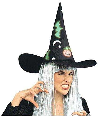 Hexenhut mit Halloween-Muster (Ideen Halloween Wahrsagerin Kostüm)