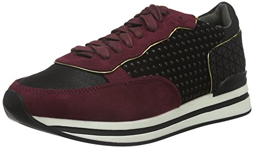 La Strada 907794, Baskets Basses Femme Rouge - Rot (2231 - micro Wine)