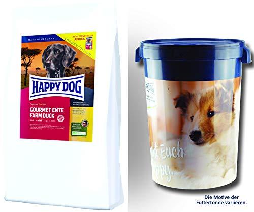 Happy Dog Gourmet Ente Farm Duck 2 x 12,5 kg = 25 kg Futtertonne 43 Liter - Sonderedition - die Alternative Africa