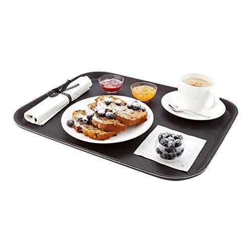 Non-Slip Serving Tray, Food Tray - Heavy Duty, Commercial Grade - 14