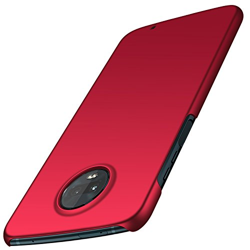 TopACE Motorola Moto Z3 Play Hülle, Bumper Hülle Motorola Moto Z3 Play Schutzhülle PC Plastik Harte Case Ultra Slim Matt Handyhülle Für Moto Z3 Play (Rot)