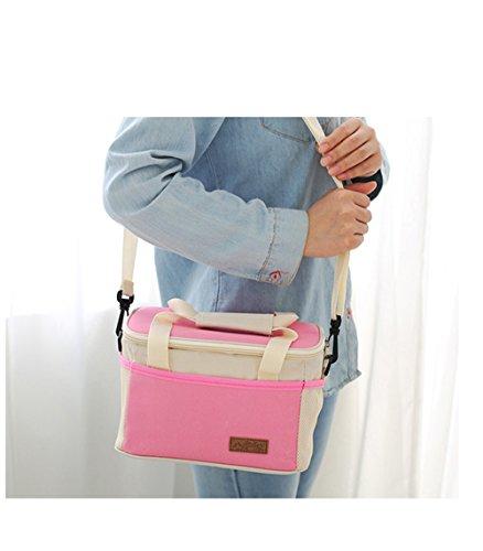 jecxep portatile Cooler Bag/borsa frigo per il pranzo/pranzo borsa/borsa pic-nic Deep Blue azzurro
