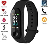 Xotak Heart Rate Monitor Bluetooth Health Fitness Tracker and More, Smart Band for Smartphones - Black