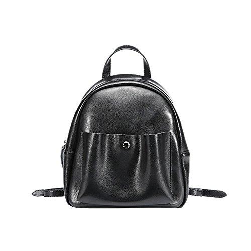 Valin Q0886 Damen Leder Handtaschen Satchel Tote Taschen Schultertaschen Schwarz