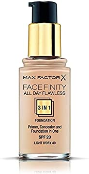 Max Factor FaceFinity All Day Flawless 3 In 1 Foundation, Light Ivory 40