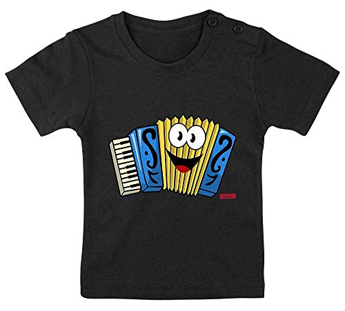 Lustiges Wörtern Auf Spiel Kostüm - HARIZ Baby T-Shirt Akkordeon Lachend Instrument Kind Lustig Plus Geschenkkarten Pinguin Schwarz 15-24 Monate / 80-92cm