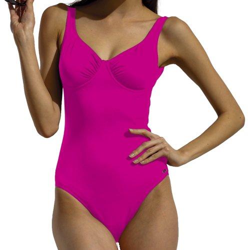 Fashy Damen Badeanzug Einteiler, Pink, 44, 2106