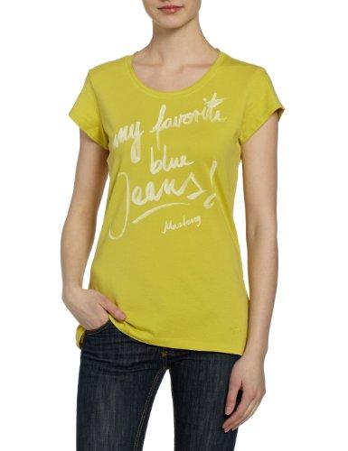 MUSTANG Jeans Damen T-Shirt, 6833-1603, Gr. 40 (L), Grün (lime green 644) (Grün Mustang T-shirt)