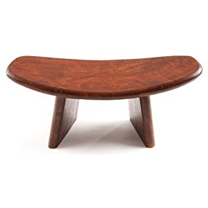 Yogabank Meditationsbank 40 x 18 cm aus Mangoholz braun, Yoga Sitz Hocker ergonomisch geformt, Sitzerhöhung für Yoga oder Meditation, Jogabank