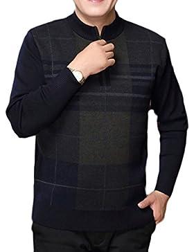 Suéter De Jersey De Punto PDFGO Otoño / Invierno Espesar Chaqueta Con Cremallera Camisa Base Media Chaqueta De...
