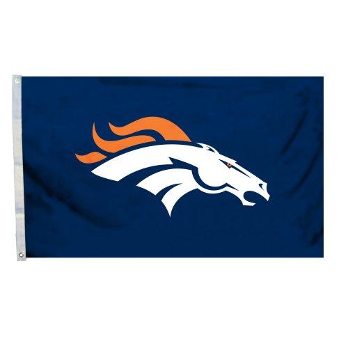Fremont Die NFL Logo Flagge mit Tüllen, 3x 5-Foot, Denver Broncos