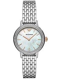 7a00681329de Emporio Armani Reloj Analógico para Mujer de Cuarzo con Correa en Acero  Inoxidable AR80020
