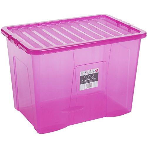 Aufbewahrungsboxen transparent/grün, 30
