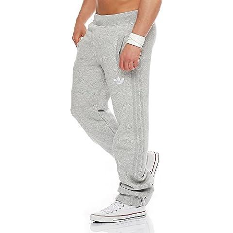 adidas SPO Fleece Trackpant hombres pantalones de chándal gris V33023, Taille:M