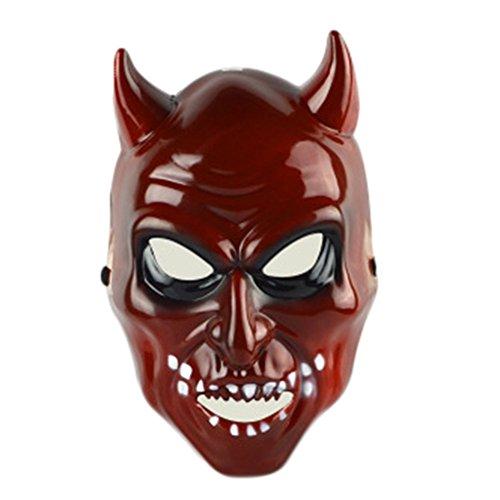 Cdet Kostüm Maske Geist Gesichtsmaske rotes Gesicht böse Augen Maske Masquerade Mask für Halloween Maskentanzabend Party Foto Zubehör (Rot (Bösen Sexy Kostüme)