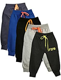 Finger's Unisex Toddlers Cotton Track Pant Joggers-Pack of 5
