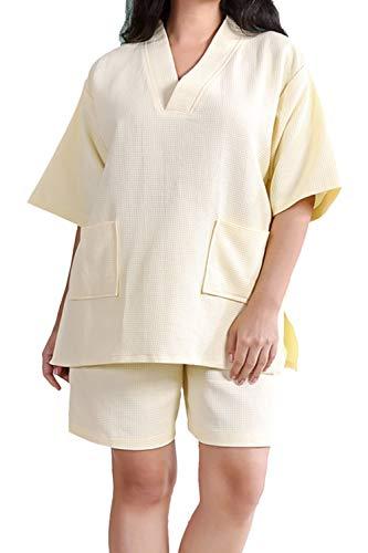 Pijama Mujer Hombre Conjunto Waffle Albornoz Traje De Baño Ropa De Dormir Camisón Camisa Pantalones...