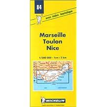 Carte routière : Marseille - Toulon - Nice, 84, 1/200000