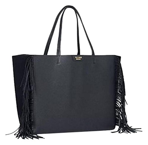 victoria-s-secret-schwarz-kunstleder-quaste-fransen-tote-weekend-bag