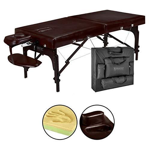 Master Massage 79cm Supreme Mobil tragbar Massageliege Massagebett Massagebank Kosmetikliege in Braun Farbe America Brand -