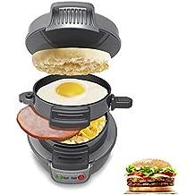 Sandwicheras de Desayuno con Temporizador, Pan Antiadherente para Huevos, frittatas, paninis, Pizza