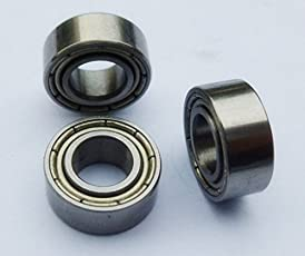 Invento 2Pcs MR128ZZ 8x12x3.5mm for 8mm Rod Radial Ball Bearings CNC/Robotics/DIY Projects