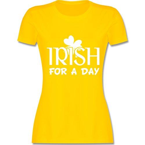 St. Patricks Day - Irish For A Day St Patricks Day - Damen T-Shirt Rundhals Gelb
