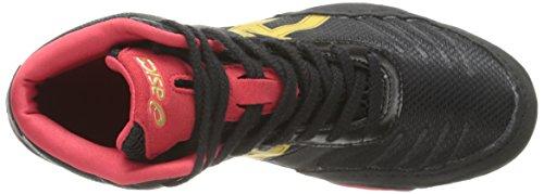 Asics Gel-Quantum 360 GS Running Shoe (Little Kid/Big Kid) Black/Olympic Gold/Red