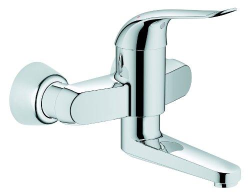 GROHE Euroeco Waschtisch-Einhebelmischer  für Wandmontage, 120 mm, verchromt 32767000