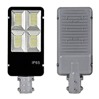 XUENUO Solar LED Street Light, IP65 Outdoor Lamp 80W 360 LED with Remote Control Dusk To Dawn 24000mAH Security Lighting for Yard Garden Pathway Basketball Court Arena Hotels