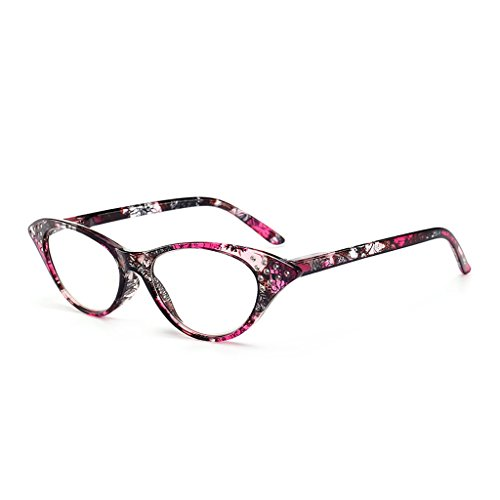 Eliky Frauen Lesebrille Brillen Eyewear Cat Eye PC Frame