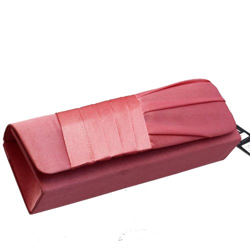 MONTE LOVIS elegante HANDTASCHE / CLUTCH in vielen trendigen Farben - IDEALES ACCESSOIRE zu HOCHZEIT- und ABEND-Mode - SCHLICHT und ELEGANT - RICHTIGES SCHMUCKSTÜCK! Rosa